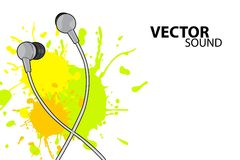 Vector headphones Royalty Free Stock Photo