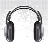 Vector headphones Stock Image