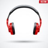 Vector Headphones Isolated on White Background Stock Photo