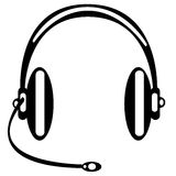 Vector headphones on white background Royalty Free Stock Photos