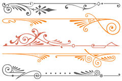 Vector headpieces for the design of advertisements, flayer, web Royalty Free Stock Photo