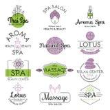 Vector health and beauty care spa badge. Stock Photos