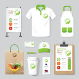 Vector health, beauty shop set flyer, menu, package, t-shirt Stock Images