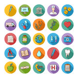Vector Health care doddle icons  set. Medical kit icon.Vector Health care doddle icons  set in flat style with long shadow Royalty Free Stock Photos