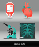 Vector health care and medical icon set Stock Photography