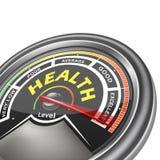 Vector health conceptual meter indicator Stock Photography