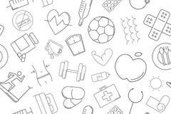 Vector Health pattern. Health seamless background. Vector illustration Vector Illustration