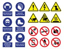 Vector health and safety signs Stock Photo