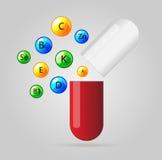 Vector health vitamin background Royalty Free Stock Photo