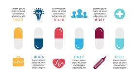 Vector healthcare infographic, medical diagram, hospital graph, medication presentation, emergency chart. Medicine Stock Image
