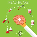 Vector healthcare medical flat background. Royalty Free Stock Photos