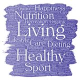 Vector healthy living positive nutrition sport Stock Photography
