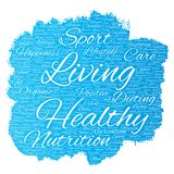 Vector healthy living positive nutrition sport Royalty Free Stock Photography