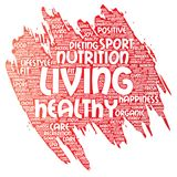 Vector healthy living positive nutrition sport royalty free illustration