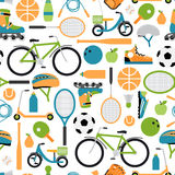 Vector healthy sport pattern background Royalty Free Stock Photo