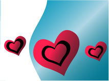 Vector heart Stock Images