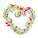 Vector heart. Abstract floral heart on a white background Stock Photo