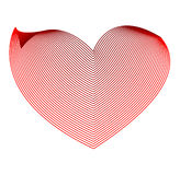 Vector heart. Abstract red vector heart isolated on white Royalty Free Stock Photography