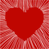 Vector heart. Hand drawn illustration of red hearts, vector added Royalty Free Stock Photo