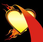 Flaming Heart Illustration Vector Royalty Free Stock Photography