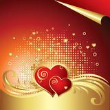 Vector Heart Background Stock Photography