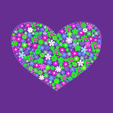 Vector heart background Stock Image