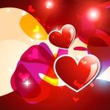 Vector heart background Stock Photos