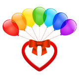 Vector heart and balloons. Royalty Free Stock Images