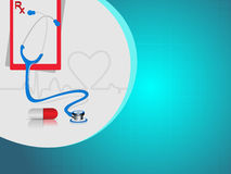 Vector heart beat medical background Stock Photo