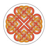 Vector heart celtic cross. Ethnic ornament Geometric design T-sh Stock Photos