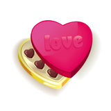 Vector heart with chocolate Stock Photo