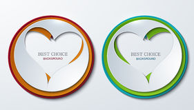 Vector heart circle icons set. Stock Photo