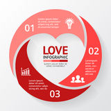 Vector heart circle infographic. Template for love cycle diagram, graph, presentation, round chart. Business concept Royalty Free Stock Photo