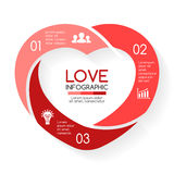 Vector heart circle infographic. Template for love cycle diagram, graph, presentation, round chart. Business concept Stock Photography