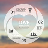 Vector heart circle infographic. Template for love cycle diagram, graph, presentation, round chart. Business concept Royalty Free Stock Photography