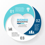 Vector heart circle infographic. Template for love cycle diagram, graph, presentation, round chart. Business concept Stock Images