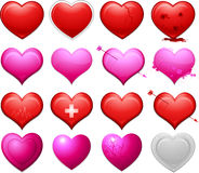 Vector heart collection Royalty Free Stock Photo
