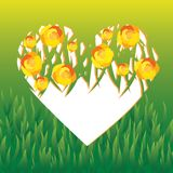 Vector heart covered with roses. This is file of EPS10 format Royalty Free Stock Images
