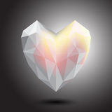 Vector heart crystal abstract icon, logo for your company. Stock Photos
