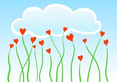Vector heart flowers Royalty Free Stock Images