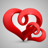 Vector heart in the form of tape Royalty Free Stock Photography
