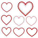 Vector heart frames Royalty Free Stock Image
