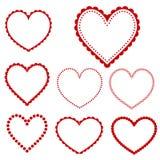 Vector heart frames Royalty Free Stock Image