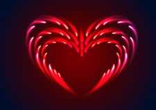 Vector heart with glow effect Royalty Free Stock Photo