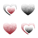 Vector heart. Halftone Royalty Free Stock Photo