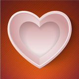 Vector heart happy Valentine day love paper 3D Stock Photography