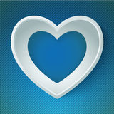 Vector heart happy Valentine day love paper 3D Stock Image