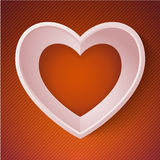 Vector heart happy Valentine day love paper 3D Royalty Free Stock Photo