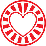 Vector heart icon Royalty Free Stock Photo
