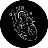 Vector heart icon Stock Images